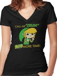 Call Me Zelda One More Time Women's Fitted V-Neck T-Shirt