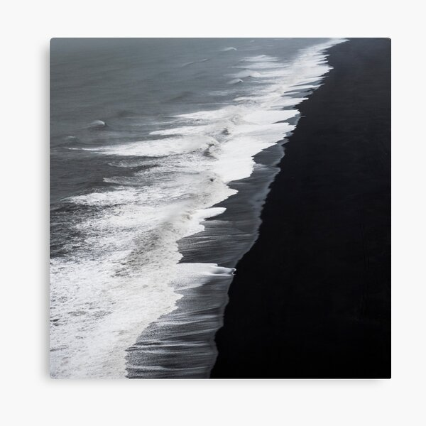 Black Sand Beach, Iceland Canvas Print
