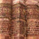 Qutub Minar Inscriptions 01 by Werner Padarin