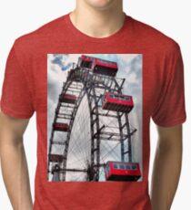 Viennese Giant Wheel in Colour Tri-blend T-Shirt