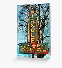 Triangle Motel Sign Greeting Card