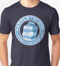 Harold: The Lactose Intolerant Milk Carton Unisex T-Shirt