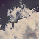 Vintage Clouds and Blue Sky by AlexandraStr