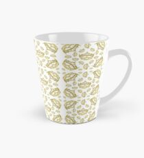 Queen of Hearts gold crown tiara tossed about by Kristie Hubler Tall Mug