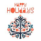 Happy Holidays Greeting by Sandra Hutter