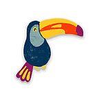 Tropical Toucan Bird by Sandra Hutter