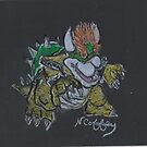 BOWSER VILLIAN OF MARIO by NEIL STUART COFFEY
