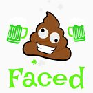 Funny St. Patrick's Day Men Poop Faced Gift by 686884915