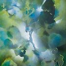 « Feuillages en vert et bleu » par Fabienne Monestier