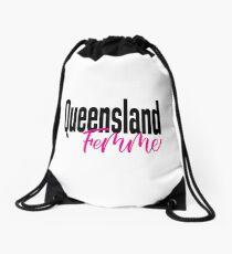 Queensland Femme Australia Raised Me Drawstring Bag