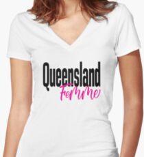 Queensland Femme Australia Raised Me Women's Fitted V-Neck T-Shirt