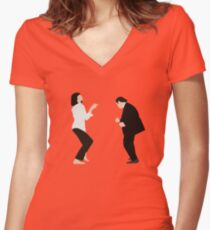 Pulp Fiction - Dance Women's Fitted V-Neck T-Shirt
