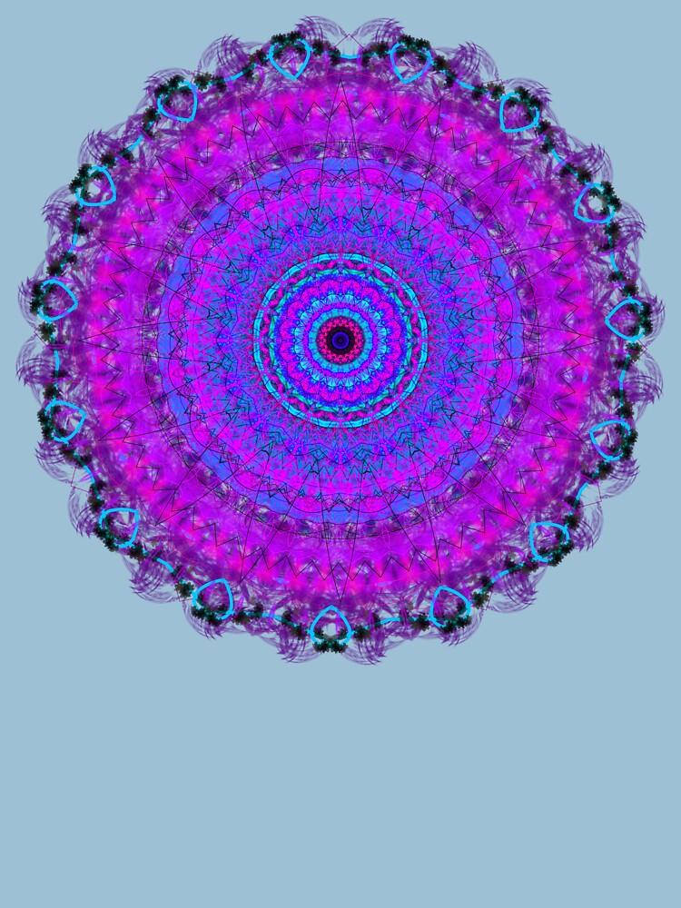 Purple Psyche Mandala by InspiraImage