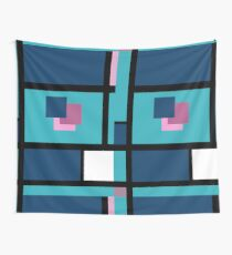 Blue Harmony Design Vertical Format Wall Tapestry