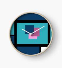 Blue Harmony Design Vertical Format Clock