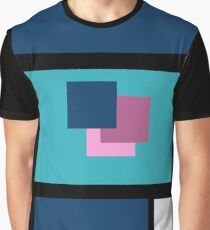 Blue Harmony Design Vertical Format Graphic T-Shirt