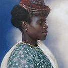 Guadeloupean woman - Ellis Island, 1907 by Marina Amaral