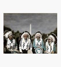 National Monuments - Four Chiefs on the Mall Photographic Print