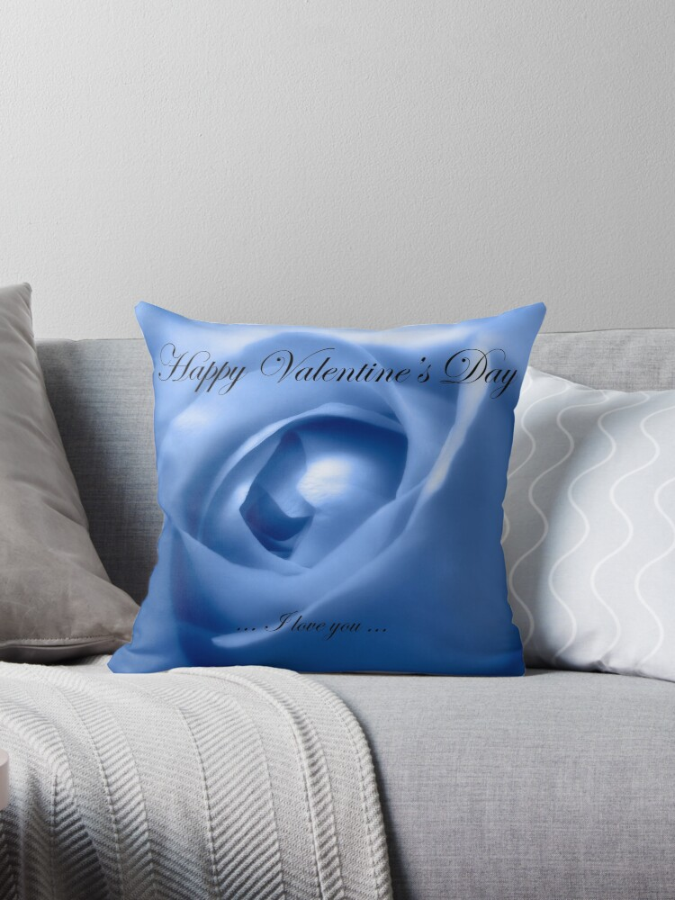 Happy Valentines Day With Soft Blue Rose by hurmerinta