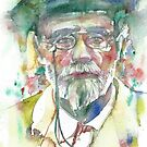 EMILE ZOLA - watercolor portrait by lautir