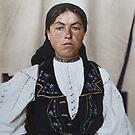 Romanian woman - Ellis Island, 1907 by Marina Amaral
