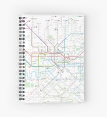 London tube map Spiral Notebook