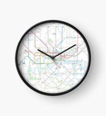 London tube map Clock