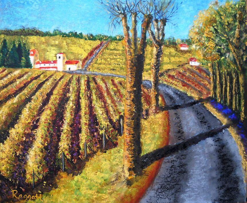 Cognac Vineyards by Christopher  Raggatt