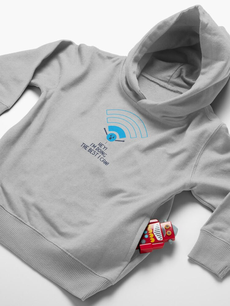 Alternate view of Angry Wifi Toddler Pullover Hoodie