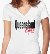 Queensland Life Australia Raised Me Women's Fitted V-Neck T-Shirt