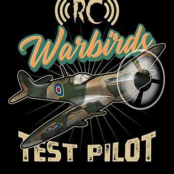 Model Maker Pilot RC Hobby Spitfire Airplane Test Pilot Model Vintage Warbird Gifts by vince58