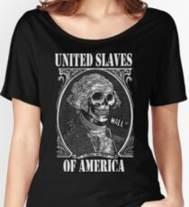 United Slaves Of America - In Greed We Trust Women's Relaxed Fit T-Shirt