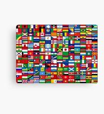 Die Flaggen der Welt Leinwanddruck