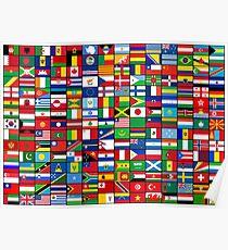 Die Flaggen der Welt Poster