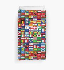 The World's Flags Duvet Cover