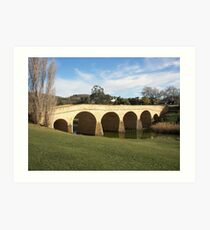 Richmond Bridge Tasmania Art Print