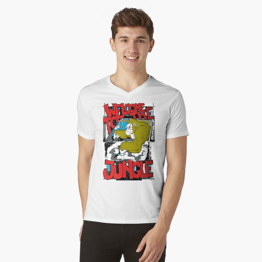 Welcome To The jungle V-Neck T-Shirt