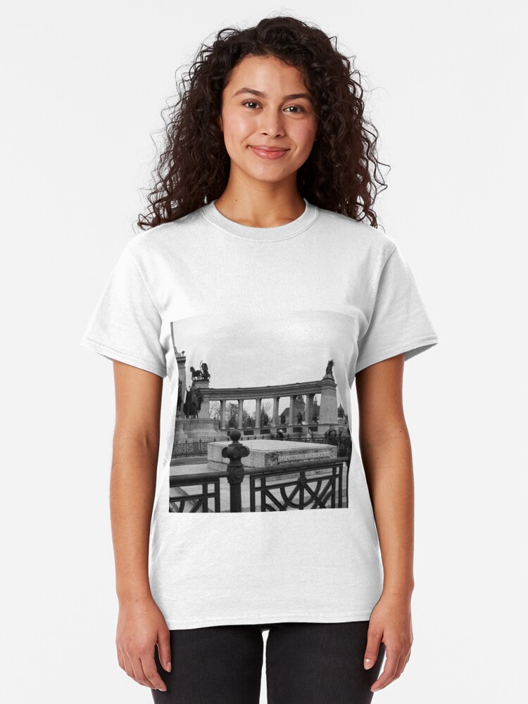 Alternate view of Heroes' Square, Budapest Classic T-Shirt