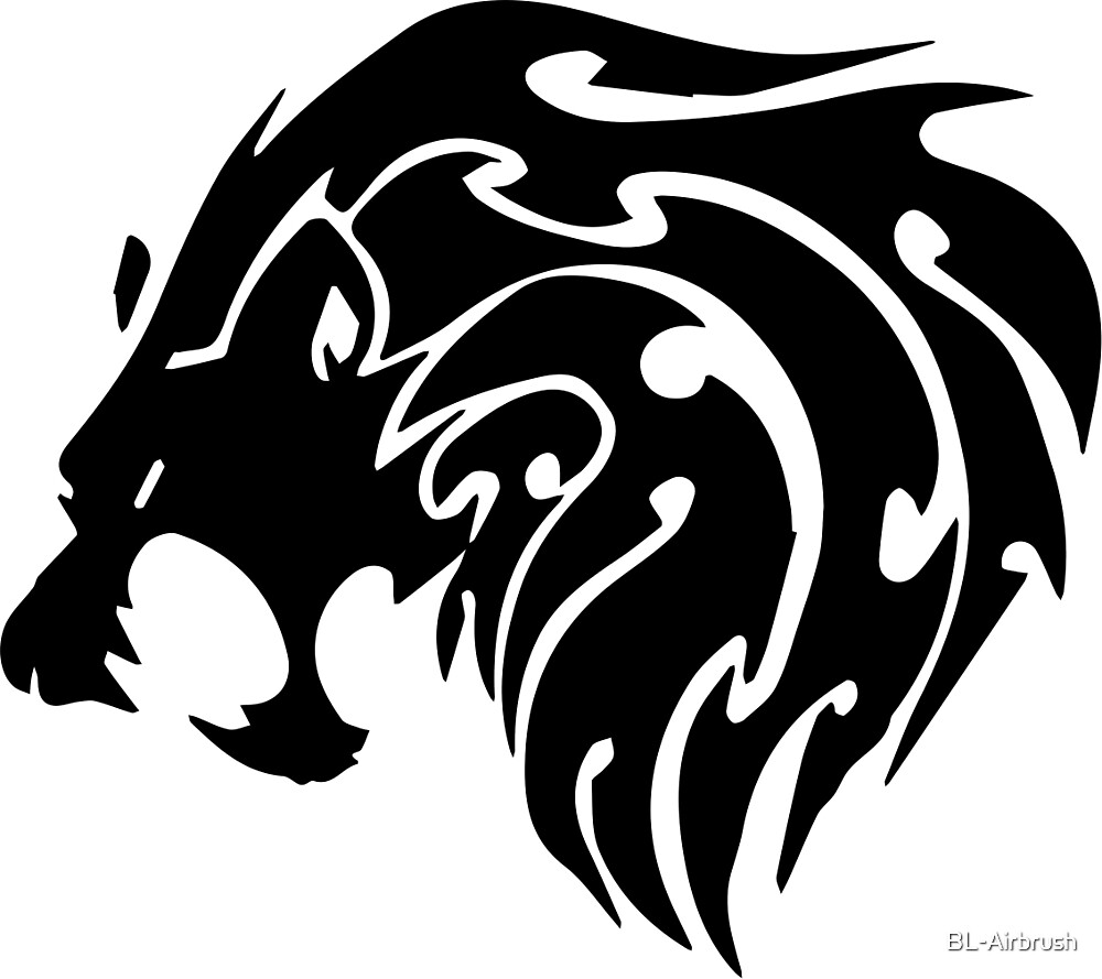 Quot Tribal Lion Head Quot By Bl Airbrush Redbubble