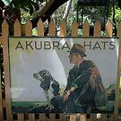 Akubra Hats advertising, Belgrave Railway Station by BronReid