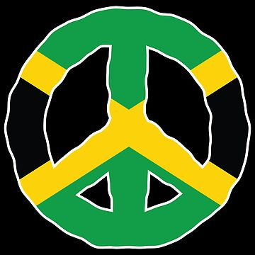 Peace Sign Jamaica National Flag by identiti
