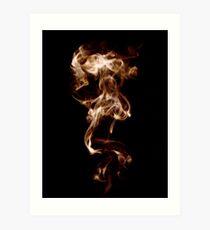Flaming Smoke Art Print