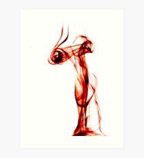 Smoking  eyes Art Print