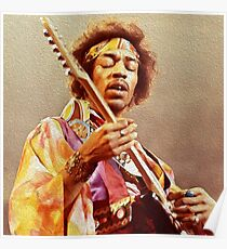 Jimi Hendrix & Guitar Poster