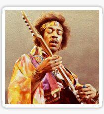 Jimi Hendrix & Gitarre Sticker