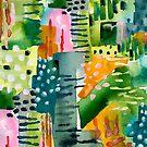 Jungle Vines Abstract Print by LIMEZINNIASDES