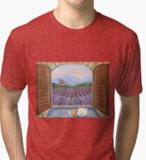 Lavender Croissant Tri-blend T-Shirt