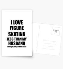 Figure Skating Wife Funny Valentine Gift Idea For My Spouse From Husband I Love Postkarten