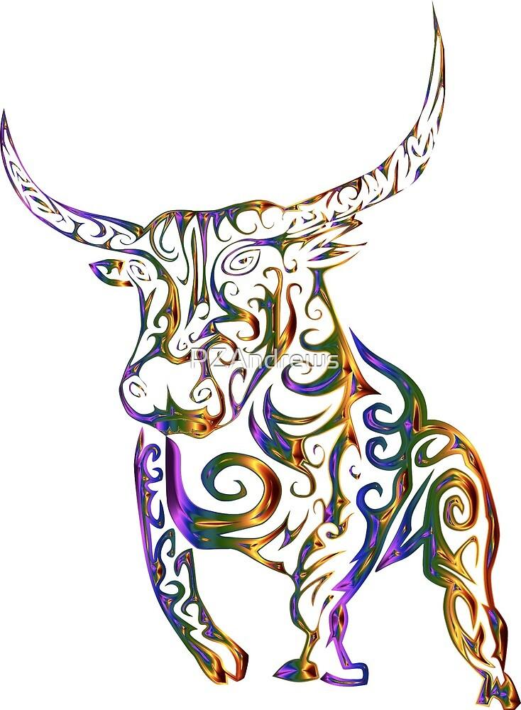 Tribal Bull by PZAndrews