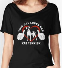 This Gal Loves Her Rat Terrier | NickerStickers on Redbubble Relaxed Fit T-Shirt